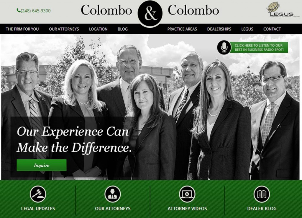 Colombo Home Page Jan 2016